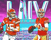 Super Bowl LIV Illustration