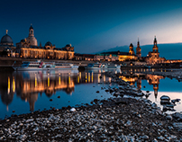 Before the night – Dresden Skyline