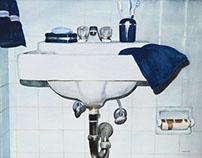 Bathroom Sink - Water Color
