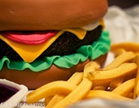 Burger & Fries Cake