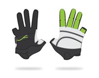 Fluescent Freerunning Gloves