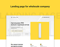 Landing page - Electrician wholesale company
