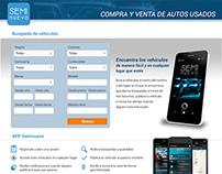 Sitio web promocional APP Seminuevo
