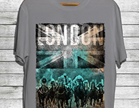Flag With Horse Racing Mens Graphic Tees