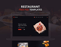 Free Psd Template Restaurant Landing Page