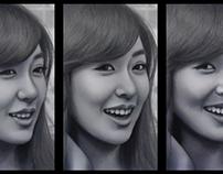 """Three expressions of Tiffany"""