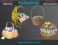 Easter Baskets - Free PNG