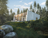 Forest House 3D visualisation