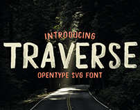 TRAVERSE - FREE HAND PAINTED FONT