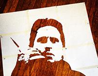 Stencil - Gordon Gekko (large)
