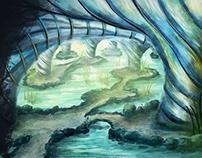 Die Grotte, digital painting