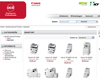 Webshop for Océ and ACV-CSC