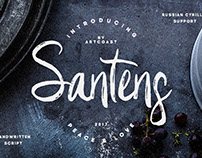 Santens - is hand brushed font