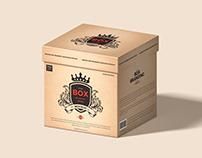 Free Square Box Branding Packaging Mockup