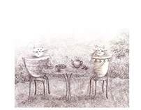 "Illustrations for ""Two tea-cup cats"""