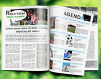 Soccer magazine layout