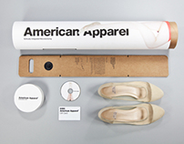 American Apparel Sustainable Shoe packaging