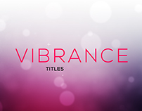 Vibrance Titles - Free AE Template