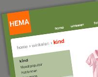 HEMA webshop redesign