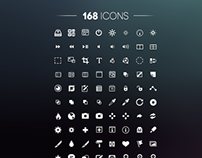 168 Free icons - PSD