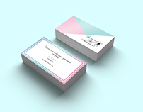 Business card with brand style for website