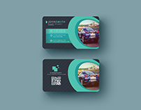 Abstract Business Card With Multiple Color