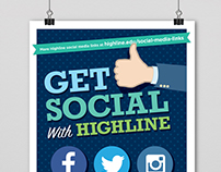 Highline College Social Media Poster