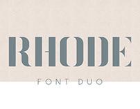Rhode Font Duo