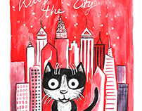 Kitty in the City Illustrations