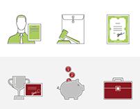 Иконки для сайта консалтинговой фирмы Право Роста