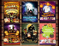 Halloween Banner, Poster and Flyer Designs