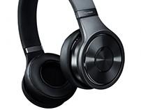 PIONEER Black headband headphones