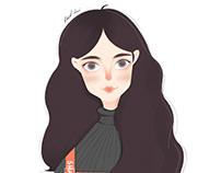 illustration/lovely girl
