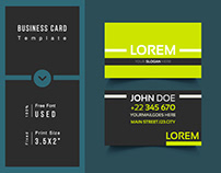 Neon business card theme template