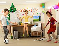 Офисный футбол