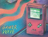 「电玩波」插畫, 設計   Gamer Wave, Vaporwave