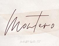 MONTERO - FREE SIGNATURE SCRIPT FONT