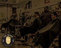 Corporate identity for barbershop.