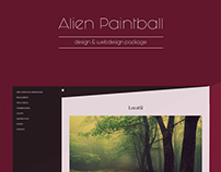 Client/ Alien Paintball, design & webdesign