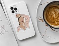 iPhone 12/Pro White Case Mock-Up
