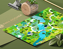Yves Rocher France La Gacilly isometric Map