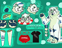 Ocean The Otter Photoshop Ref Sheet