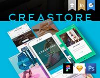 Creastore UI Kit + Free PSD