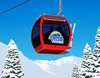 Sunshine Village Ski Poster