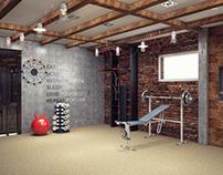Спорт зал в частном доме