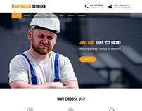 Home maintenance WordPress theme