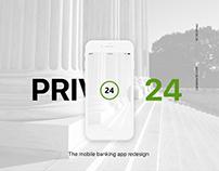 Privat24 iOS app redesign