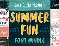 THE SUMMER FUN FONT BUNDLE