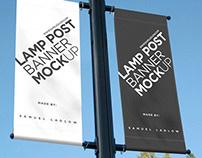 Smart Lamp Post Banner Mockup