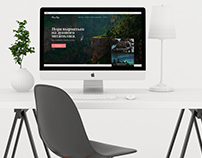 Web design of the main page of the site